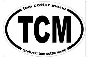 TCM tom cottar music sticker copy